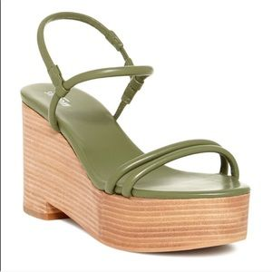 Kate Spade Saturday Green Platform Heeled sandals
